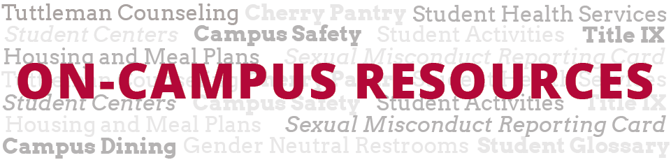 Banner for on-campus resources